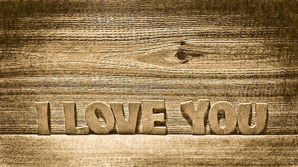 I Love You, Wood, Wooden, Romantic, Love, Happy, You