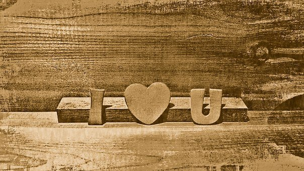 I Love You, Wood, Heart, Romantic, Love, Happy, You