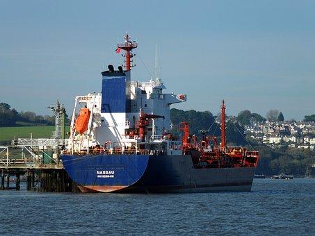 Ship, Water, Harbor, Harbour, Sea, Funnel, Tanker, Port