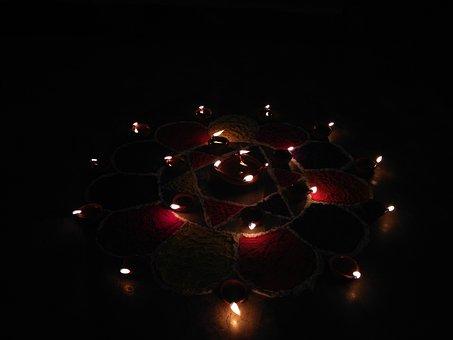 Hindu, Lights, Festival, Religion, Traditional