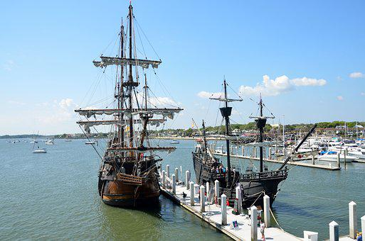 Galleon, Ship, Historic, Moored, Sail, Vessel, Nautical