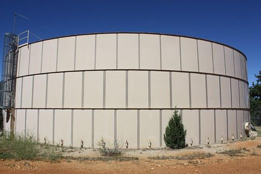 Reservoir, Water, Tank, Sky, Holding, Storage, Drought