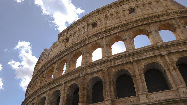 Colosseum, Rome, Italy, Daytime, Landmark, Architecture