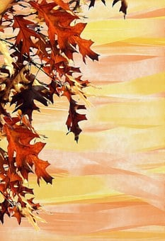 Autumn, Background, Leaves, Emerge, Stationery