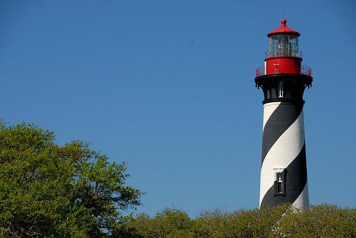 Lighthouse, St Augustine, Florida, Beacon, Landmark