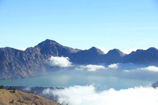 Mountain, Mountain View, Rinjani, Lombok, Indonesia