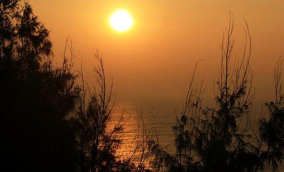 Dawn, Sun, Sunrise, Summer, Nature, Sunset, Landscape