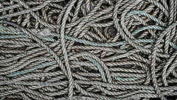 Rope, Dirty, Grimy, Coil, Coiled, Cord, Nautical, Loop