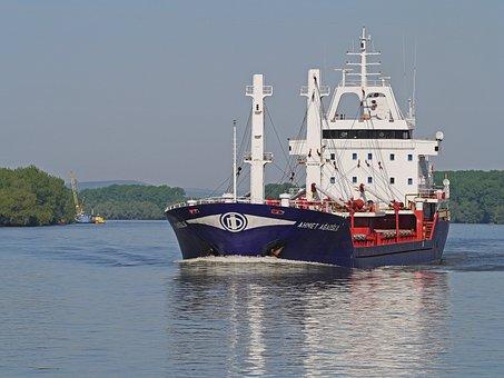 Danube, Delta, Nautical Vessel, Freighter, Black Sea