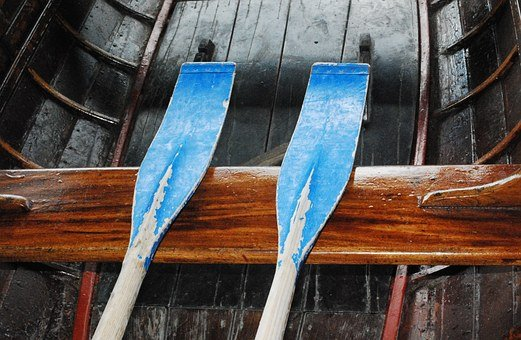 Paddle, Oars, Boating, Canoe, River, Lake, Nautical