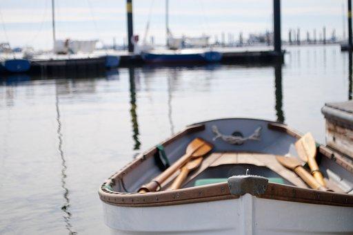 Rowboat, Paddles, Boat, Water, Sea, Row, Nature, Rowing