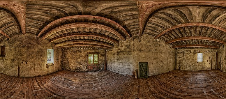 Attic, Loft, Panorama, Empty Room, Old House, Abandoned
