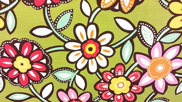 Flowers, Fabrics, Floral, Design, Pattern, Vintage