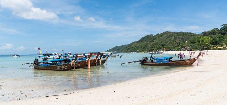 Phi Phi Island Tour, Phuket, Thailand, Beach, Boats