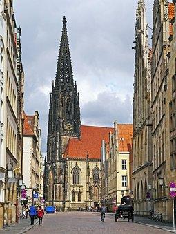 Münster, Principal Market, Lamberti Church, City Church