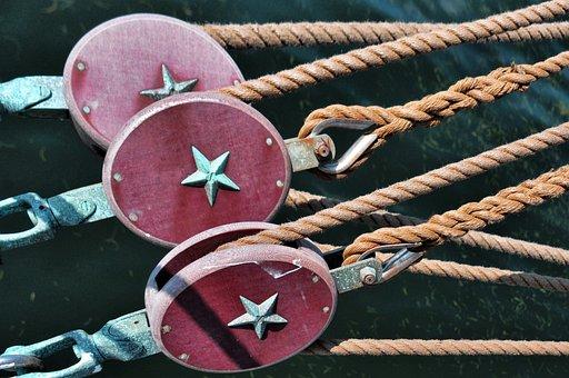 Rigging, Pulleys, Tall Ships, Sailing, Boats, Nautical