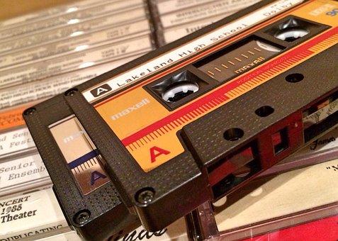 Cassette, Tape, Music, Retro, Audio, Sound, Vintage