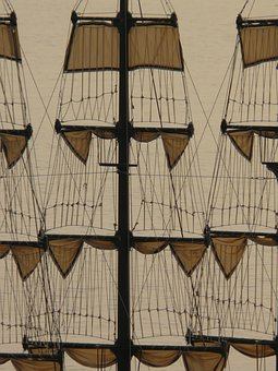 Sail, Ship, Sailing Vessel, Hoist, Hoisted, Rigging