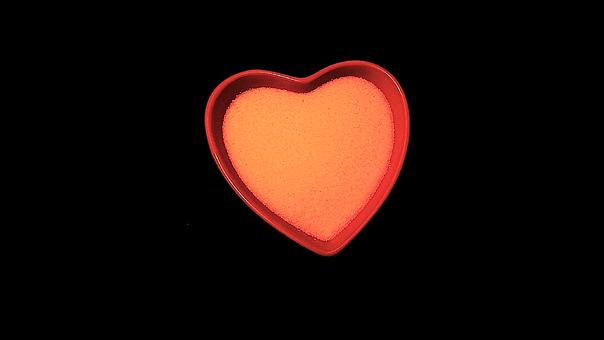 Heart, Red, Black, Love, Valentine, Day, Romance