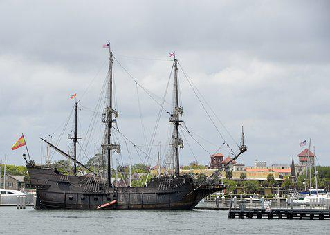 Old, Galleon Ship, Ship, Galleon, Nautical, Sail