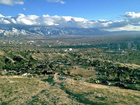 Ensign, Peak, City, Salt Lake City, Mormon, Mountain