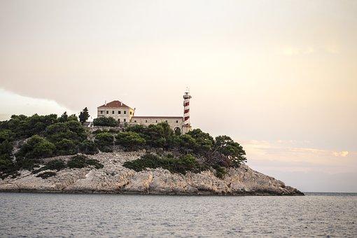 Lighthouse, Sea, Ocean, Island, Water, Travel, Blue