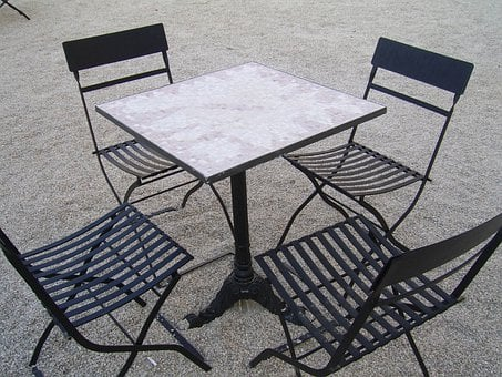 Table, Chairs, Outside, Furniture, House, Decor, Seat