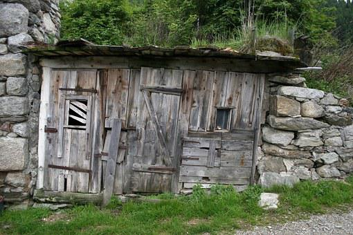 Shed, Shack, Hut, Rustic, Building, Structure, Mountain