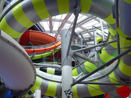 Water Slide, Slide, Water, Water Park, Sliding System