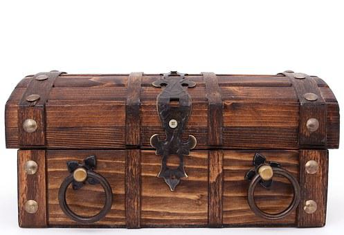 Treasure, Bank, Box, Brown, Case, Chest, Close