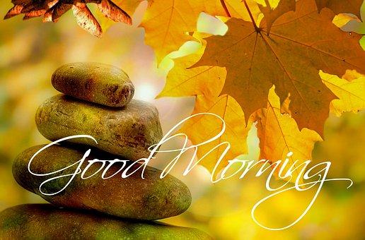Good Morning, Autumn, Tree, Trees, Greeting, Morning