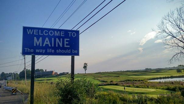 Maine, Welcome, Travel, Road Trip, Trip, State