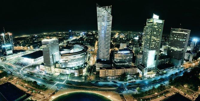 Warsaw, Building, City, Antenna, Center, Accumulation