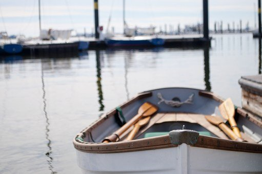 Rowboat, Paddles, Boat, Water, Sea, Row, Nature, Rowing