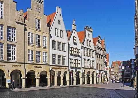 Münster, Principal Market, Westfalen, Gabled Houses