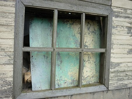 Window, Old, Abandoned, Building, Grungy, Closed, House