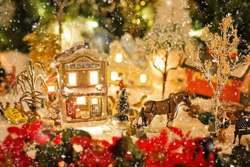 Christmas Village, Christmas, Xmas, Snow, Winter