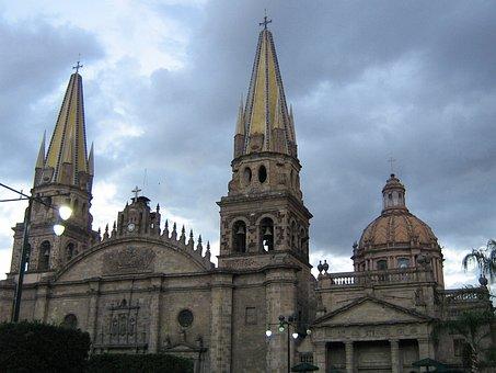Guadalajara, Cathedral, Church, Architecture, Mexico