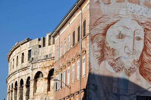 Facade, Graffiti, Art, Street Art, Wall, Hauswand