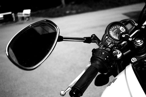 Motor Cycle, Bike, Staring Wheel, Mirror