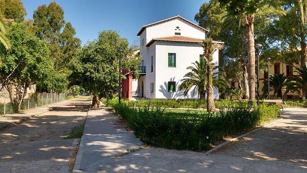 Park, Villa, Trees, House, Chalet