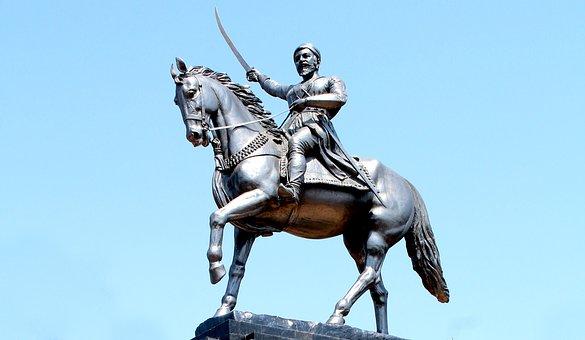 Statue, Maharaj, Horse, Maratha, Chhatrapati, History