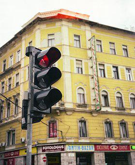Traffic Lamp, Urban, Budapest, Traffic, Lamp, Light