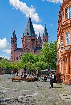 Mainz Cathedral, Mainz, Sachsen, Germany, Europe