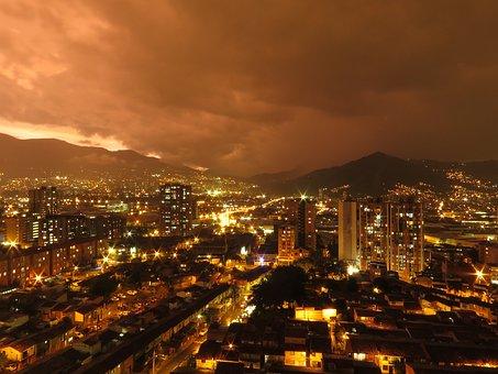 Medellín, City, Sunset, Urban Landscape, Medellin