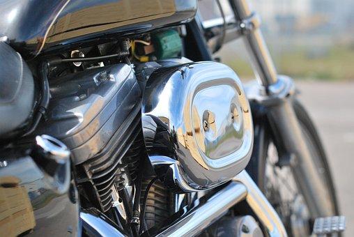 Engine, Motor, V-twin, Harley, Davidson