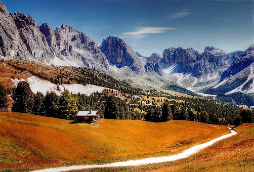 Dolomites, Mountains, Italy, South Tyrol, Hiking