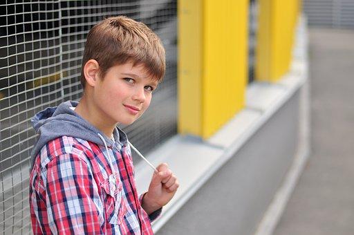 Schoolboy, Kids, Paint, Cute, Boy, Emotions, Mood