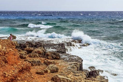 Rocky Coast, Waves, Coast, Sea, Cliff, Crash, Wind