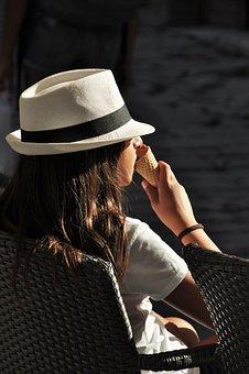 Girl, Ice, Summer, Hat, Bag, Stanitzel, Fashion